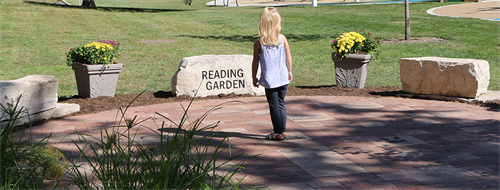 The Reading Garden offers residents the chance to create a personalized brick.
