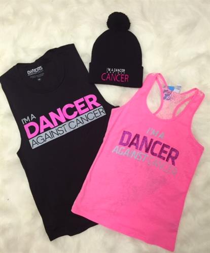 Supporting the cause. Dancer Against Cancer