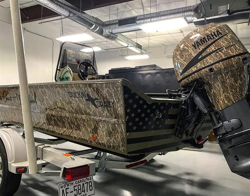 East Coast Waterfowl Boat Wrap