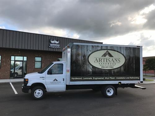 Artisians Box Truck Wrap
