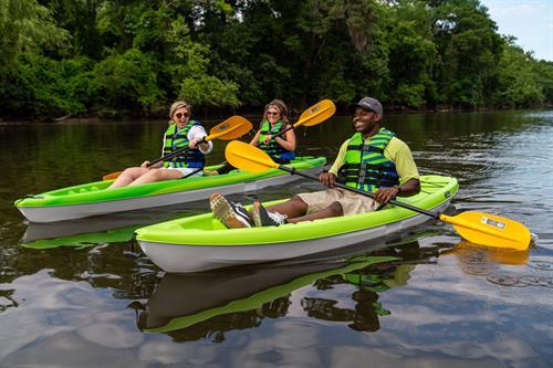 We offer Single and Tandem Kayak Rentals. Single vessels rent for $20.00/2hrs, and Tandem Vessels rent for $25.00/2hrs.