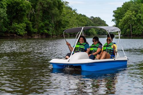 We offer Motorized Pedal Boat Rentals for $30.00/2hrs.