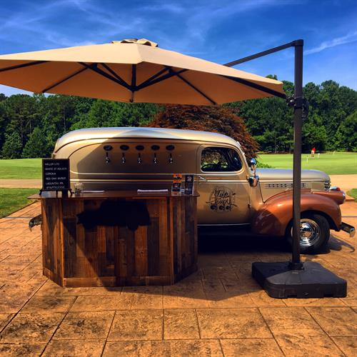 Beautiful day to play golf and enjoy some cold brew at Hasentree Golf Course in Wake Forest, NC.