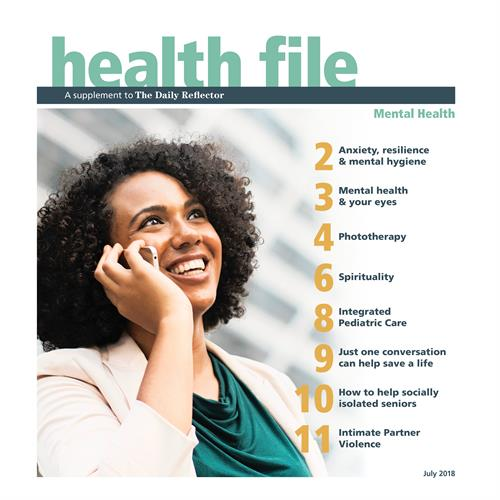 Healthfile is published quarterly with timely feature articles.