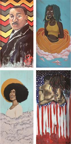 Four of the Murals for Black Voices Matter