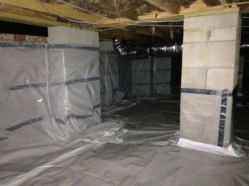 After we have sealed the Crawlspace