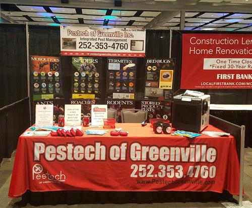All set up at the Home Builders Expo!