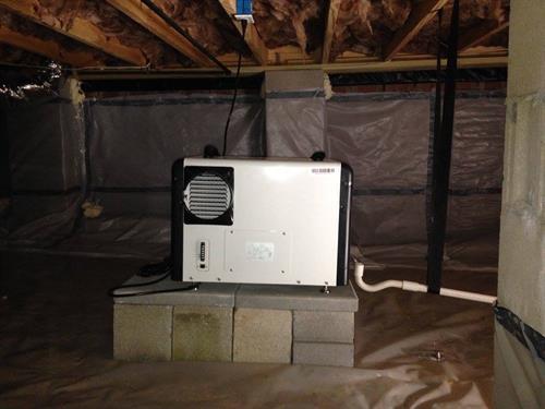 Dehumidifier-moisture control