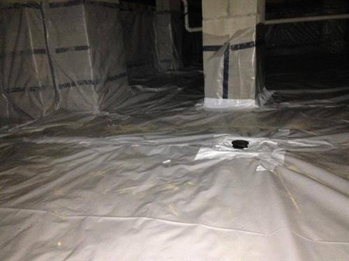 Another After picture of a sealed Crawlspace