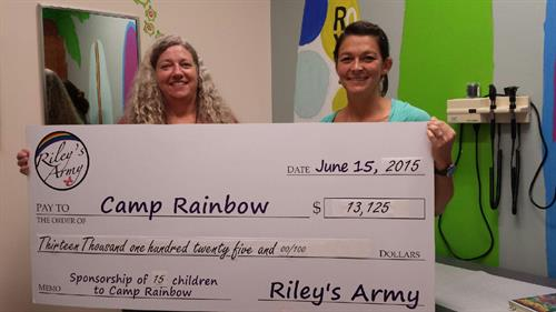 Riley's Army sponsored 12 children to Camp Rainbow in 2015