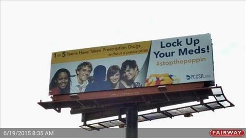 #StopThePoppin Billboard goes up