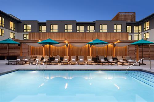 Heated rooftop pool, open year round