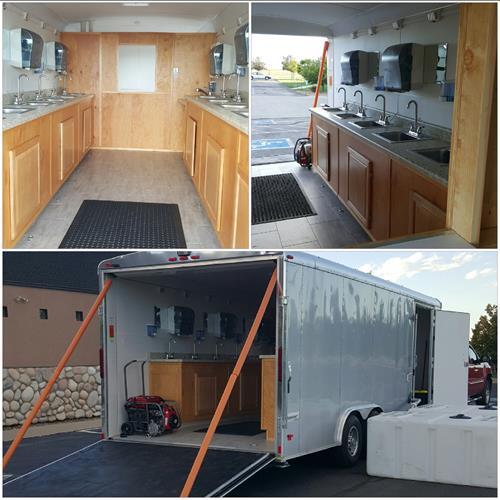 Homelike mobile handwash station