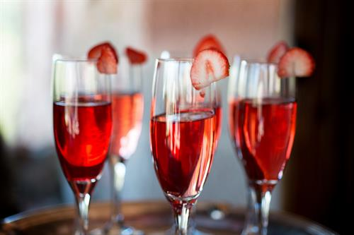 Hibiscus Infused Champagne