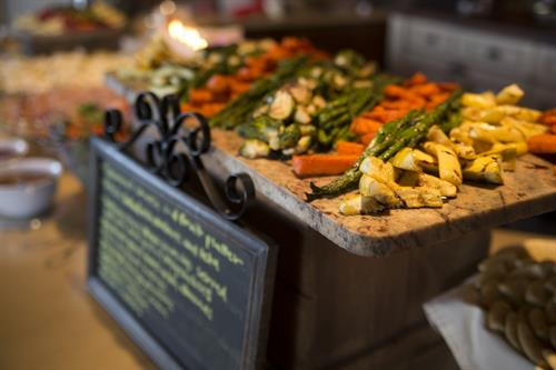 Grilled Veggie Display