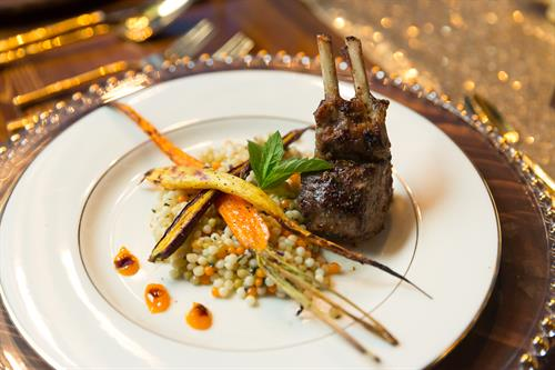 Lamb, Pearl Couscous and Curried Carrots