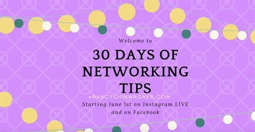 30 Days of Networking Tips on Instagram
