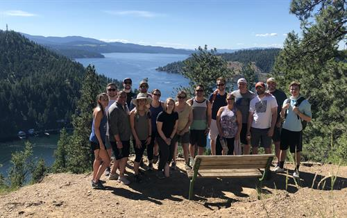 Our team hiked to mineral ridge to review our District Vision plan for 2020