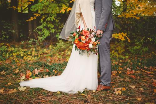 Beautifully captured fall wedding at The White House in downtown CDA