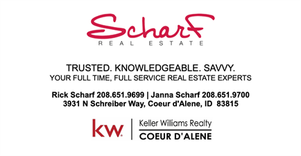 Rick and Janna Scharf, Keller Williams Realty CDA