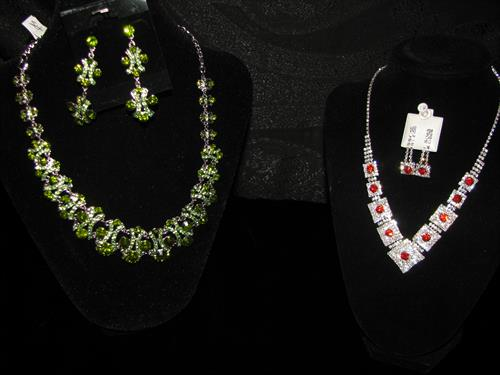Necklace and earring sets for all occasions.
