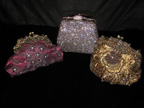 Beaded bags in all shapes and sizes.
