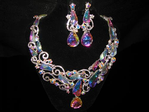 Aurora Borealis Necklace, elegance at its finest.