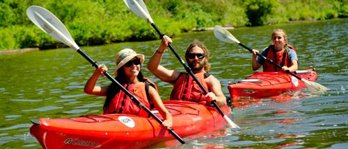 Guided afternoon and sunset kayaking trips are a great way to enjoy some quality time out on Coeur d'Alene Lake.