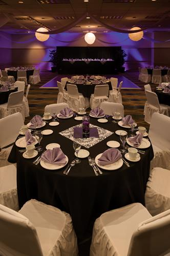 The Conference center on site can host parties of 10 to 500.