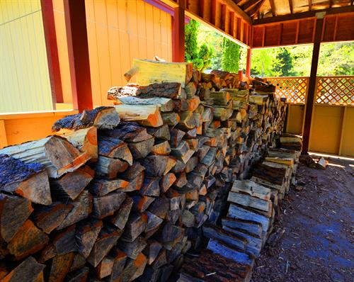 We offer free firewood!
