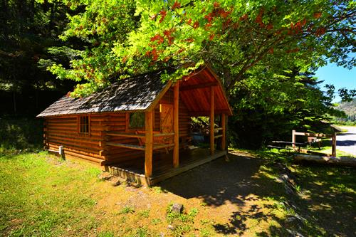 Cozy camping cabins