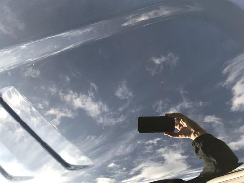 This was a picture of a hood in direct sunlight demonstrated our 3 stage paint correction results.
