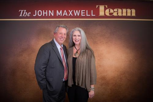 Mickey Quinn with leadership guru & author John C. Maxwell