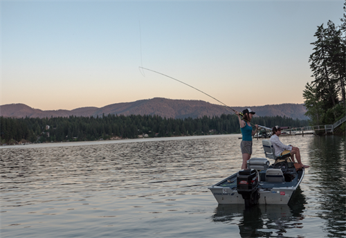 Hayden Lake Spin and Fly Fishing Trips