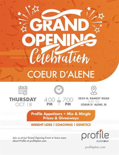 Grand Opening: Profile by Sanford, Coeur d'Alene - Oct 18