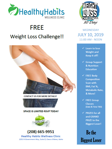 Weight Loss Seminar and 30 day Weight Loss Challenge - Aug 7, 2019