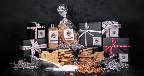 Collection of soft peanut brittle & gift boxes