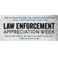 Law Enforcement Appreciation at the Halifax Farmers Market