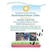 Hand Painted Picnic Tables Silent Auction