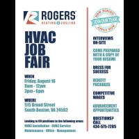 Rogers Heating & Cooling - HVAC Job Fair