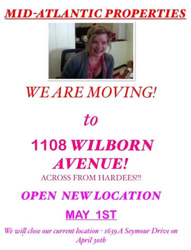 MID-ATLANTIC PROPERTIES IS MOVING!!!