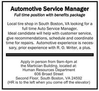 Automotive Service Manager