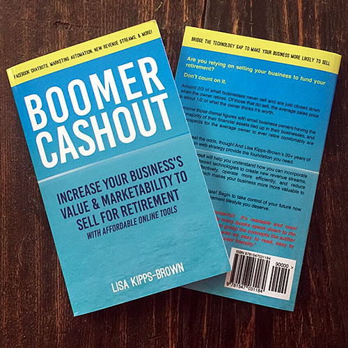 Boomer Cashout, written by Lisa Kipps-Brown, CEO