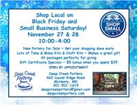 Shop Local with Deep Creek Pottery