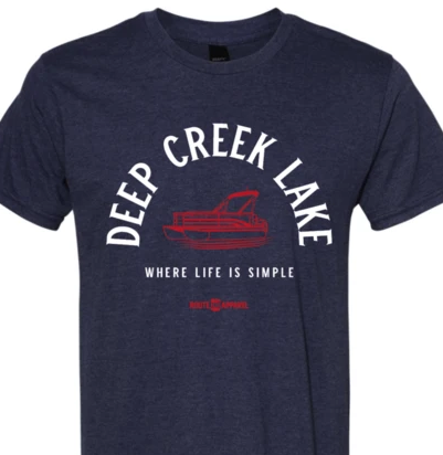 Deep Creek Lake Pontoon Boat Tee from Route One Apparel