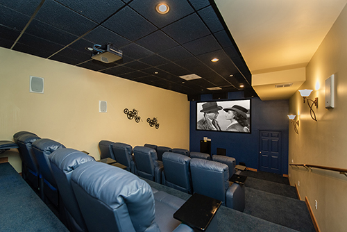 Theater room for your favorite movies at Memory Maker!