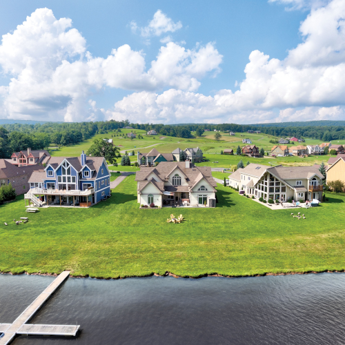 Gorgeous lake front homes in Waterfront Greens!