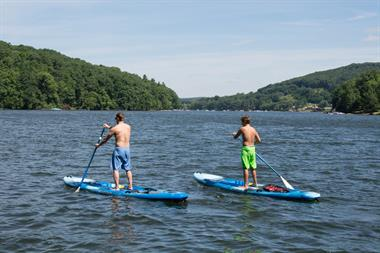 Paddleboarding on Deep Creek Lake