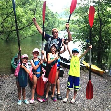 Kids love kayaking with Crede