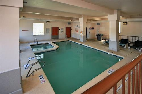 Indoor heated pool and spa open year around.